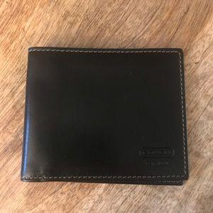 Coach Black & Red Italian Leather Billfold Wallet